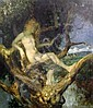 Theodor Baierl (German, 1881-1932) Nymph in a tree, 16.5 x 14in., Theodor Baierl, Click for value