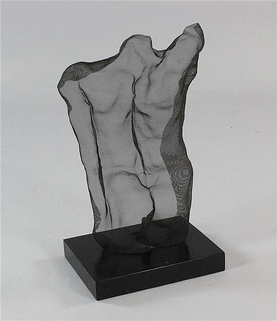 David Begbie (b.1955) Male torso seen from behind, 21in.