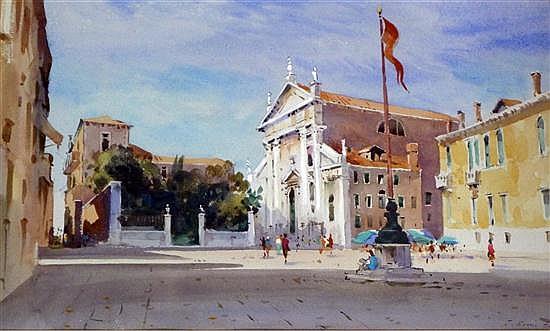 J. Barrie Haste (1931-) Views of Venice, 12.5 x 20in.