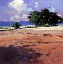 James Orr (b.1937) 'Summer Trees II', 11.5 x 11.5in.