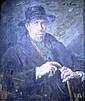 Reginald Grenville Eves (1876-1941) Portrait of Maurice Codner (R.P) wearing a dark hat and coat 29.5ins x 24.25ins, Reginald G. Eves, Click for value