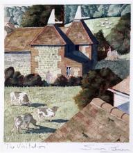 § Simon Palmer (1956-) 'The Visitation', 10.75 x 9.5in.