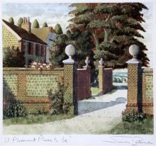 § Simon Palmer (1956-) A Pleasant Place To Be', 10 x 10.75in.