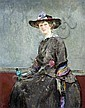 Ernest Borough Johnson (1866-1949) Sketch of a seated lady 12 x 9in., Ernest Borough Johnson, Click for value