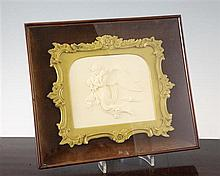 After Bertel Thorvaldsen. A relief carved ivory plaque of 'Night', overall 11in.