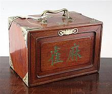 A Chinese bone Mah Jong set, 10in.