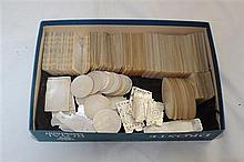 A collection of approximately two hundred Chinese mother of pearl gaming counters,