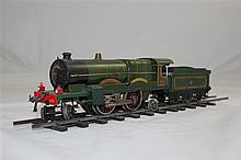 A Hornby O gauge Caerphilly Castle locomotive and tender,