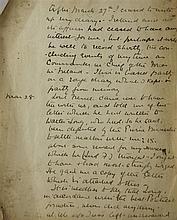 Irish Political Interest. A handwritten document by Lieutenant General Sir Frederick Charles Shaw, 10.25in.