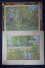 George Herbert Jupp (1869-c.1926) River landscapes, 14 x 20.5in., unframed