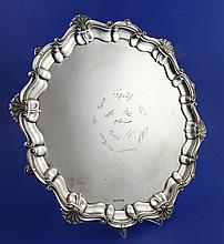 A George V silver salver, 37.5 oz.