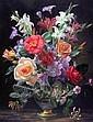Albert Williams (1922-2010) Summer flowers in a Paris porcelain vase, 20 x 16in., Albert Williams, Click for value