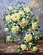 Albert Williams (1922-2010) Cream roses before palace gates, 22 x 18in., Albert Williams, Click for value