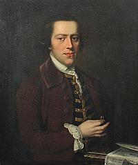 Sir George Chalmers (1720-1791) Portrait of Roger Simpkinson (born 1732) 30 x 25in.
