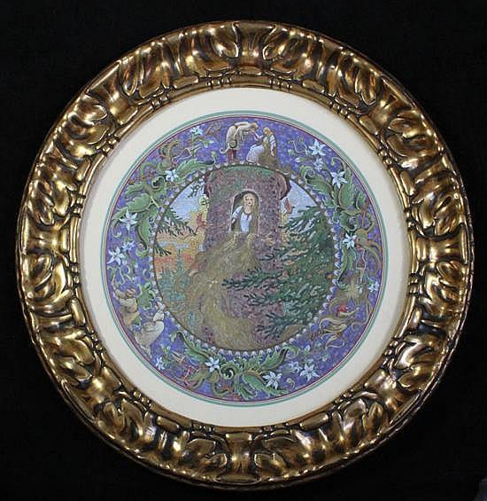 Arthur Hughes (1832-1915) Rapunzel, 16in.