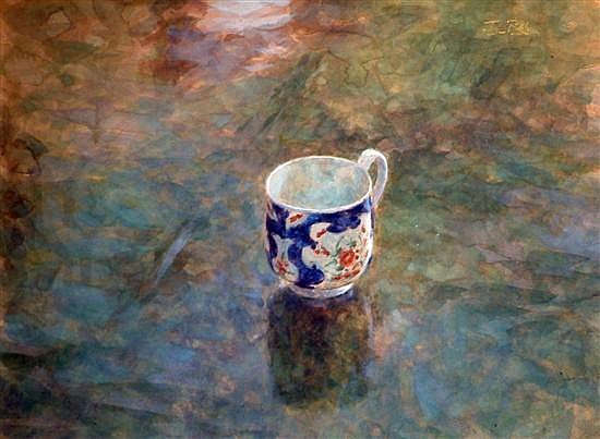 Jacqueline Rizvi (1944-) ''The Worcester Cup'' 9 x 12ins