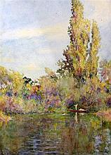 George Herbert Jupp (1869-c.1925) Fine Summer and Bathers on a river, 14 x 20.5in. and 19.5 x 14in., unframed