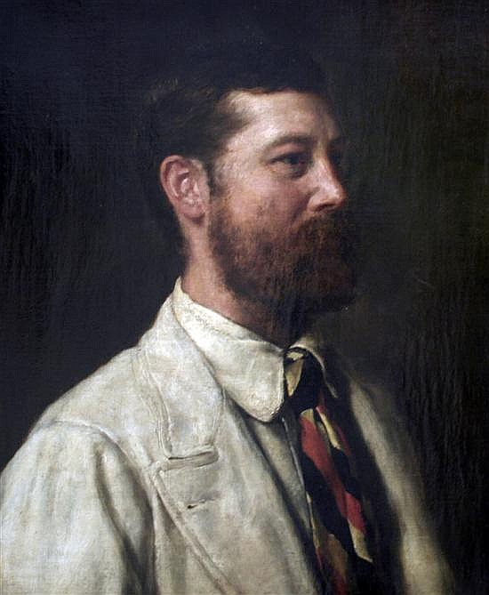 The Hon. John Collier (1850-1934) Portrait of Sir William Rose, 24 x 19.5in.