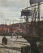 Frederick William Jackson R.B.A (1859-1918) Whitby Quayside, 21 x 17in., Frederick William Jackson, Click for value