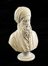 A 19th century carved ivory bust of a Turk, 6in.