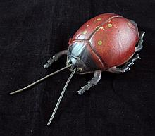 A German S. Gunthermanns tinplate clockwork ladybird, 8in.