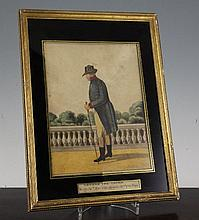 A 19th century watercolour drawing of George III, 13 x 9.5in.