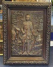 A 20th century wall panel, 22 x 17in.