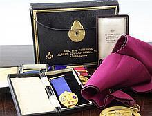A collection of Masonic memorabilia,