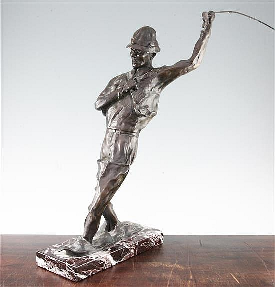 George Northup (American). A limited edition bronze, 'One Fly', 23in.