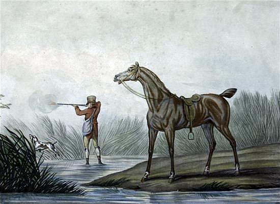Charles Levachez Equestrian studies