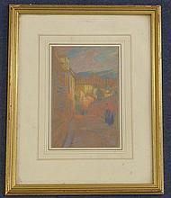 Ramon Pichot Gironès (1872-1925) Street scene, Grenada, 9 x 6in.