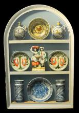 § Frederick Clifford Harrison (1901-1984) Pottery in an alcove 36 x 23.5in.