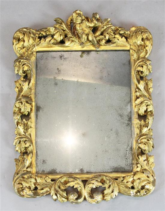 A late 17th century italian carved giltwood frame wall mirro for 17th century mirrors