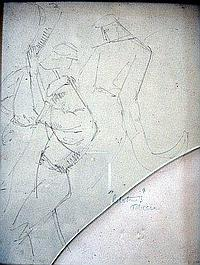 Attributed to Felix-Elie Tobeen (1880-1938) Pelotins, 10 x 7.5 ins.