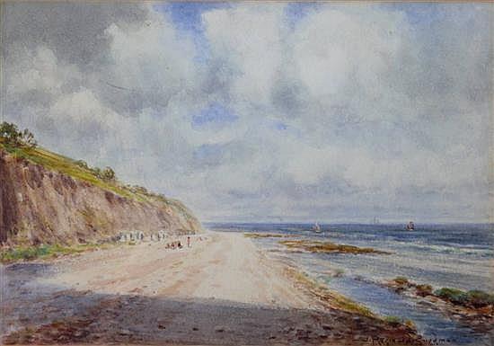 John Reginald Goodman (1878-) 'Low Tide, West Runcton, Cromer' 7 x 10in.