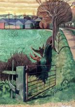 § Simon Palmer (b.1956) 'The Bird Scarers' 20 x 14.5in.