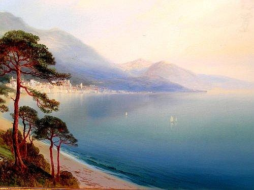 John Shapland (1865-1929) - The Bay of Naples, watercolour