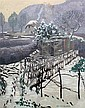 Eric Hesketh Hubbard (1892-1957) Garden under Snow, 25.5 x 21.5in., Hesketh Hubbard, Click for value