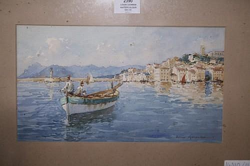 Louis German Mediterreanean fishing boats, 7 x 13 ins.