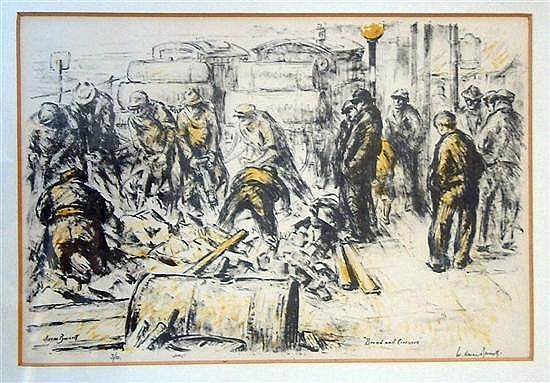 Walter Durac Barnett NS (1874-1961) 'Bread  &  Circuses' 8 x 12in.