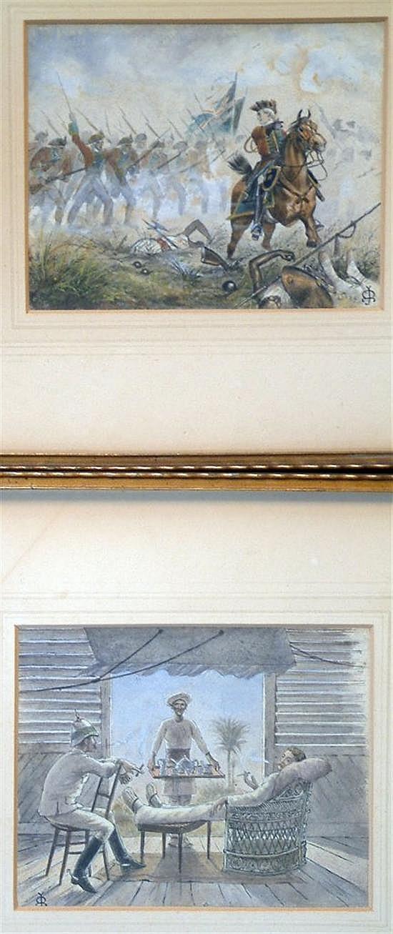 John Ballantyne (1815-1897) British Military in India - C18th and C19th. 5 x 6.5in.