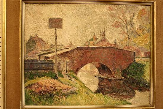 James Brown (1863-1943) Stone bridge 16 x 20in.