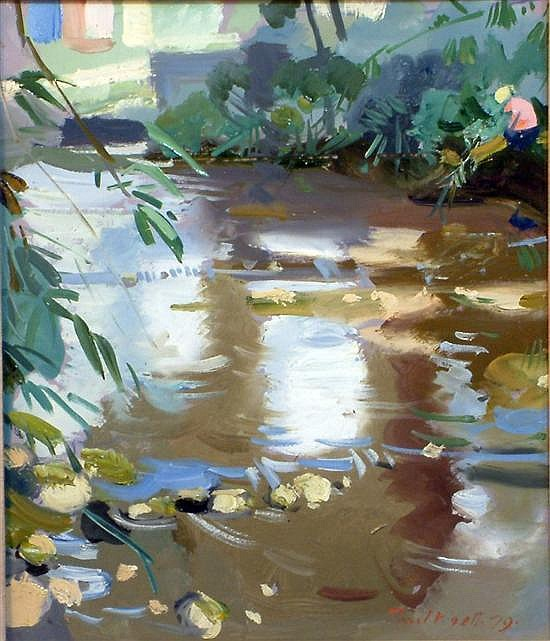 Paul James Logan Wyeth RBA,RPARCA (1920-83) 'River, Maidstone' 13.5 x 11.5in.