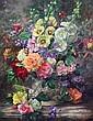 Albert Williams (1922-2010) Summer flowers in a vase, 30 x 24in. unframed., Albert Williams, Click for value