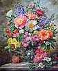 Albert Williams (1922-2010) Summer Flowers in a glass vase, 24 x 20in., Albert Williams, Click for value