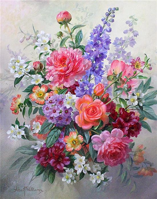 Albert Williams (1922-2010) Bouquet of Summer Flowers, 24 x 20in.