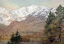 William Gershom Collingwood (1854-1932) Sunny winter, Coniston, 13.5 x 20in.