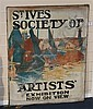 Manner of John Anthony Park (1880-1962) 'St Ives Society of Artist's Exhibition Now On View' Unframed, 36 x 28in., John Anthony Parke, Click for value