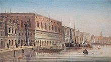August von Siegen (German, b.1850) Views of Venice, 7 x 12.5in.