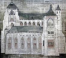 § Valerie Thornton (b.1931) Church, 26 x 29.5in.
